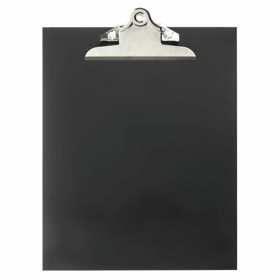 "Expressly HUBERT® Black Plastic Hanging Clipboard Sign Holder - 10""L x 12 1/2""H"
