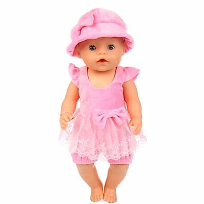 Baby born doll clothes fits 43cm 2 piece set hat rompers outfit clothes