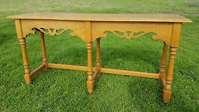 BEAUTIFUL   Ethan Allen Canterbury Oak Sofa Table   28-9403   Console Entry Hall