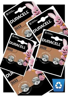 Duracell CR2032 3V X 10 Lithium Coin Cell Battery Key Fob TV Remote EXPIRES 2029