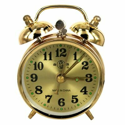Mechanical Wind Up Spring Alarm Clock Twin Bell Table Clock Home Decor 7cm