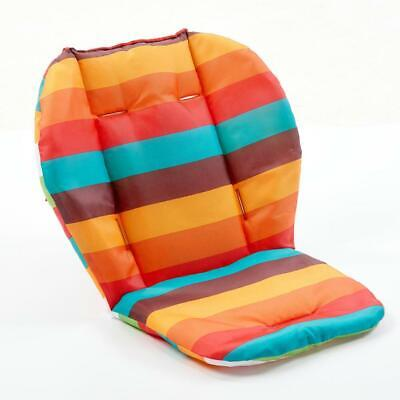 Double-Sided Rainbow Baby Stroller Seat Cushion Soft Mattresses Trolley Pad Mat