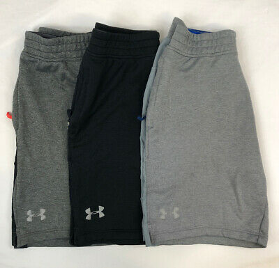 Lot of 3 Youth Boys Size Medium Under Armour  Shorts