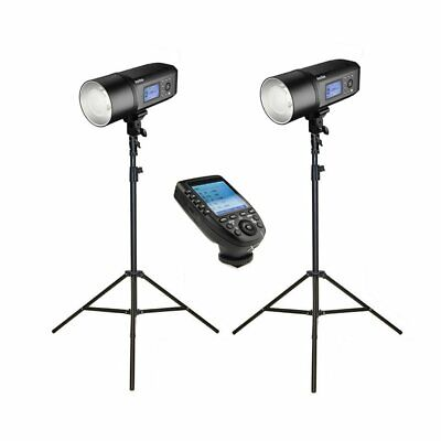 2x Godox AD600Pro Witstro Studio Flash Strobe Light & Stand Kit with XPro Tri...