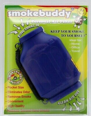The Smoke Buddy Jr  Personal Air Purifiery and Odor Diffuser -  COLOR BLUE