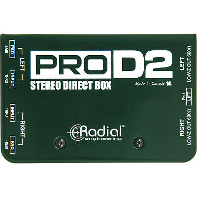 Radial PRO D2 Stereo Dual Channel Passive Direct Box DI PROD2 NEW