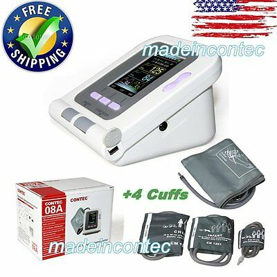 CONTEC08A Digital automatic blood pressure monitor+4 Cuffs CE FDA