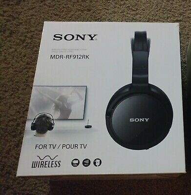Sony Wireless Tv Headphones Stereo Rf System Fm Gaming For Phone Rf995rk Aux 34 99 Picclick