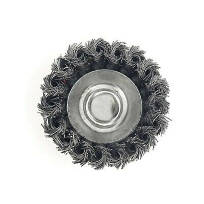 75mm Knot Steel Wire Wheel Cup Brush Metal Rust Remover Angle Grinder Accessory