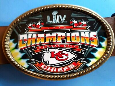 KANSAS CITY CHIEFS 2020 SUPER BOWL LIV -Championship Epoxy Buckle - NEW!