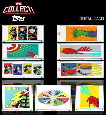 2020 POP ART SERIES 1 COMPLETE SET OF 9 CARDS Topps Marvel Collect