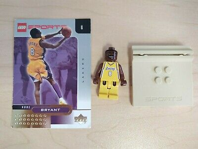 LEGO Los Angeles Lakers Kobe Bryant #8 Home Jersey Minifig Stand and Card