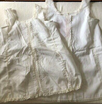 2 Vintage 1970s HER MAJESTY Little Girls 6X and 7 White Slips