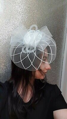 Fascinator White Hat white facinator new wedding ascot