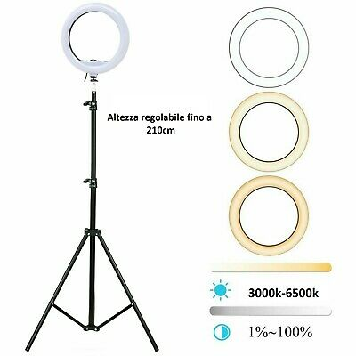 Studio Fotografico Portatile Led Ring Light Anello Luce Led Per Selfie Treppiede