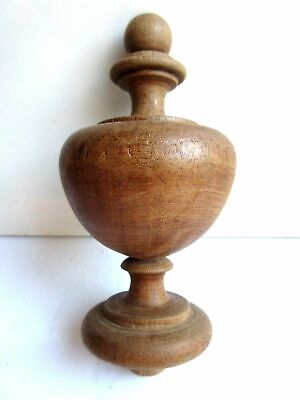 Stair Ball, baluster shape top, turned wood, 1900