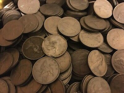 British Ten New Pence Coins From Old Bulk 1968-1981 | Bulk Coins |Pennies2Pounds