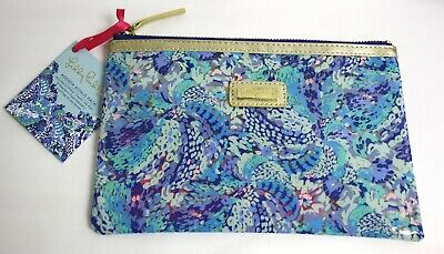Lilly Pulitzer Agenda Bonus Pack Blue Zippered Pouch Sticker Pen Flag Page Keep