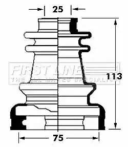 Cv Joint Boot Kit Bellow FCB6030 by First Line Genuine OE - Single