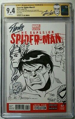 Superior Spiderman 1 Cgc Ss 8X Original Art