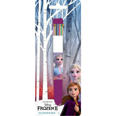 Stylo Bille 10 couleurs Reine des Neiges 2 Disney