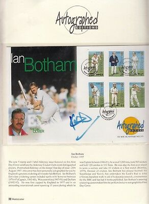 Ian Botham Hand Signed Autographed Large Autographed Editions Fdc