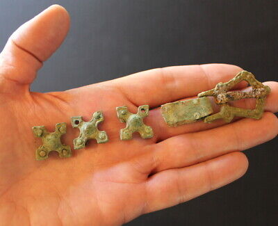Rus Viking belt 10th Century Bronze Iron buckle fittings parts Medieval