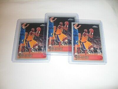 -3- 1996-1997 Topps Chrome # 138 KOBE BRYANT RC REPRINT Lakers RP REPRINT MINT