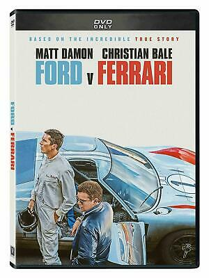 Ford V Ferrari NEW DVD * ACTION DRAMA * FAMILY Now Shipping Today!