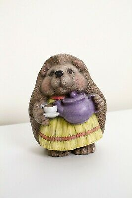 Vintage Whimsical Hedgehog Statuette by Care Inc