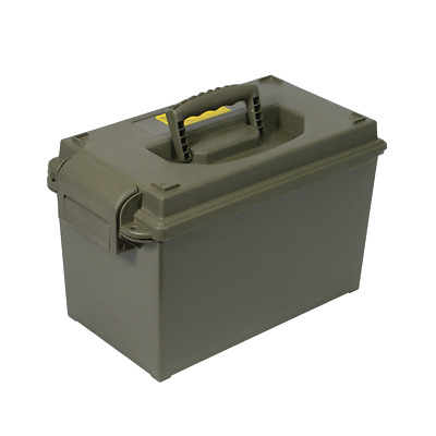 Ammo Box 50 Cal Style Plastic Water Resistant Lockable Ammunition Dry Tool Box