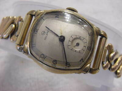 Vintage GOLD FD large antique Art Deco HELBROS mens watch
