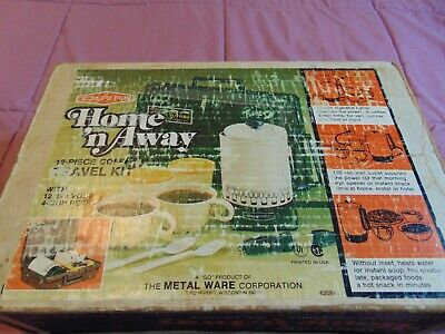 Vintage Empire Home N Away Electric Coffee Maker Travel Kit 12v 120v IN BOX