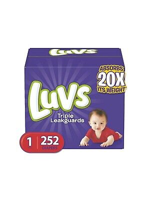 Luvs Ultra Leakguards Baby Diapers 8-35lb+ Size 1 2 3 4 5 6. 124-252 Count