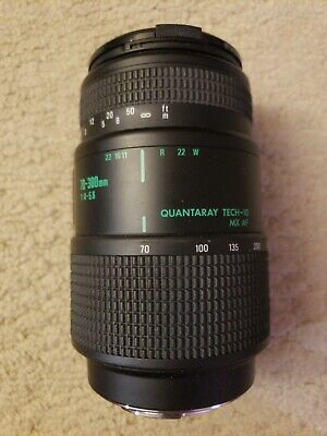 Quantaray Tech-10 MX AF 70-300mm F4-5.6 LDO Macro Lens for Minolta Sony w/ Caps