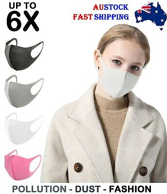 Face Masks Mouth Mask Anti-Dust Muffle Washable Cycling Reusable Unisex Aus