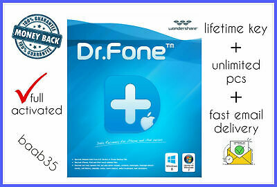 🔥 Wondershare Dr.Fone Toolkit for iOS and Android ✔️⭐Life time activator ⭐✔️🔥