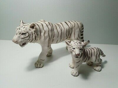Schleich Wild Life WHITE TIGER Adult Male & Cub toy figures