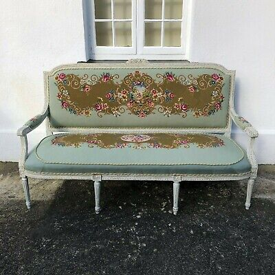 French Tapestry Settee Sofa Beautiful Colours *FREE DELIVERY ENGLAND & WALES