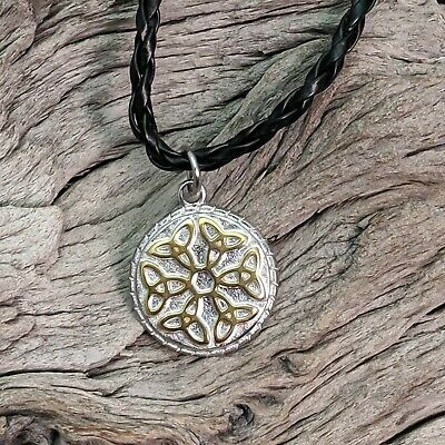 Triquetra Trinity Knot Tree of Life Cord Necklace Celtic Pagan Druid Charmed