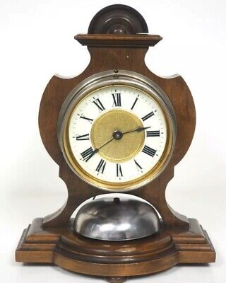 "Rare Victorian Mahogany Cased ""Alarm"" Clock By H.A.C Of Wurrttemburg"