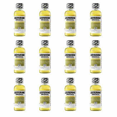 Listerine Original Oral Care Antiseptic Mouthwash Travel Size 95 mL (Pack of 12)