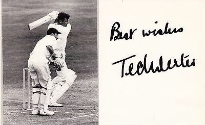 Ted Dexter Hand signed Cricket in action