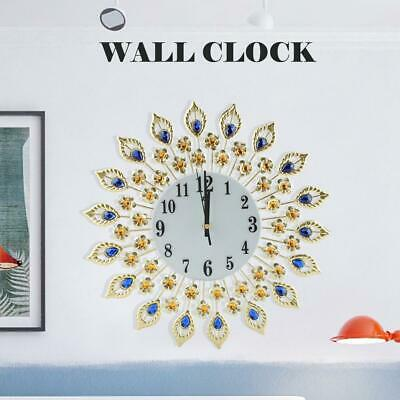 Indoor Wall Clock Flower-Shaped Large Kitchen  Ornament Giant Open Face Metal