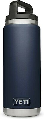 YETI Rambler 26oz Bottle, Vacuum Insulated, Stainless Steel with Cap Color: Navy