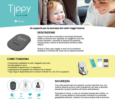 Digicom Tippy Cuscino Per Seggiolino Bluetooth Conforme