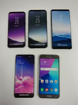 Lot of 5 - Dummy Phones - Samsung Galaxy S8, S8+, Note 8, S10, and J7v (2017)