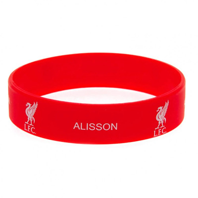 Liverpool FC Silicone Wristband Alisson | OFFICIAL