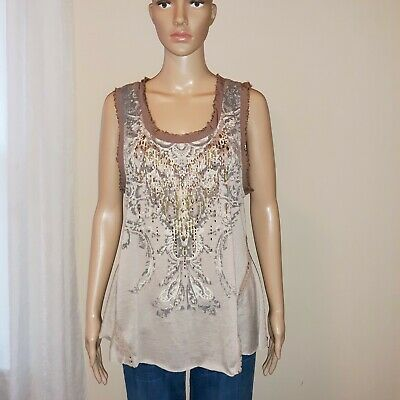 Miss Me Juniors Studded Graphic Tank Top