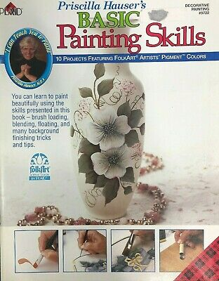 Basic Painting Skills by Priscilla Hauser Decorative Tole Paint Pattern Book